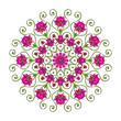 Lotus Blüten Mandala - Symbol der Vollkommenheit