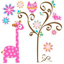 hibou et la girafe