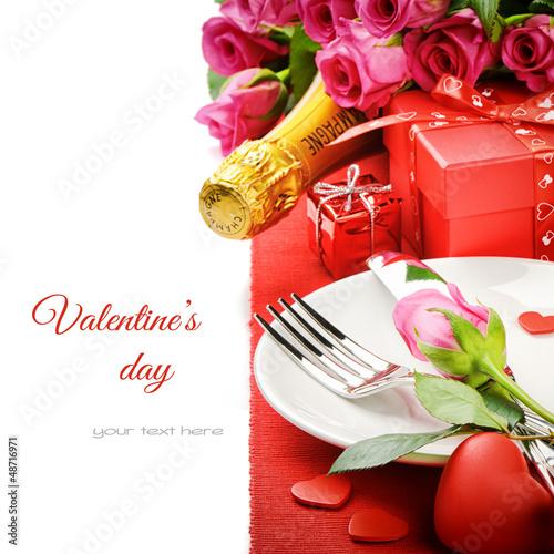 St Valentine's menu concept