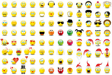 Smilies Smiley Emoticon faces icon set 7