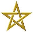 Pentagramm - Gold - Stern der Magier