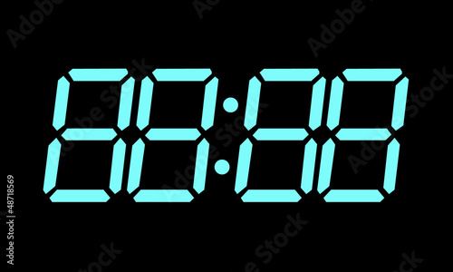 Editable Digital Clock