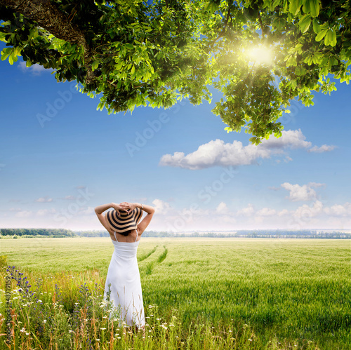 girl in a meadow