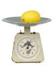 lemon on scales