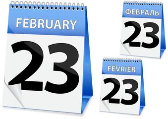 icon calendar 23 February