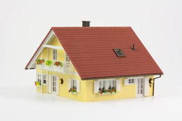 Modellhaus mit Balkon
