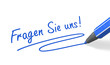 Stift- & Schriftserie: Fragen Sie uns! blau