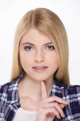 attraktive Frau erstaunt