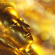 Tête du Bouddha couché de Wat Pho - Bangkok, Thaïlande
