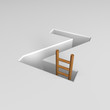 letter z and ladder