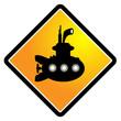 Submarine sign, vector illustration