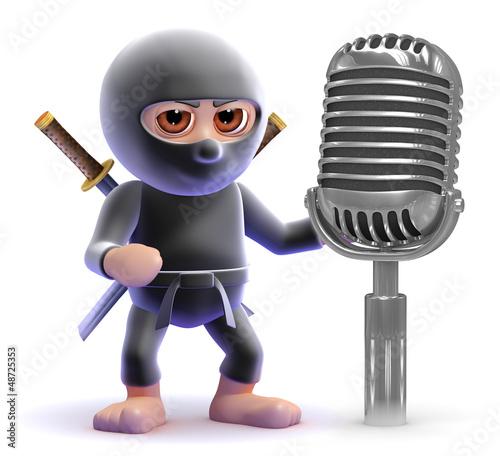 Ninja speaks into the microphone