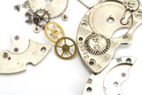 Clockwork details on a white background