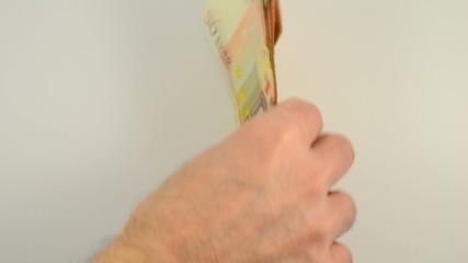 Abgezählte Euroscheine
