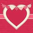Valentine and Heart Bunting Background