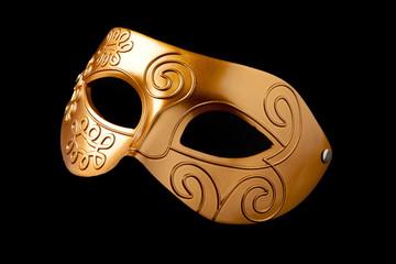 maschera dorata isolata