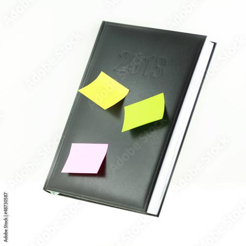 Kalender mit Notizzettel