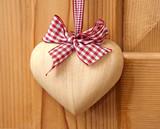 Fototapety wood heart