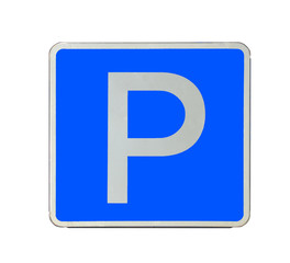 """Road sign """"Parking place"""" isolated"""