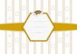 Fond Pâques étiquette hexagonale - Pâques