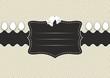 Fond Pâques étiquette cuir gris - Pâques