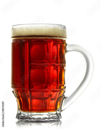 tankard of kvass, isolated on white