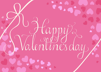 Happy Valentine's day script on heart background