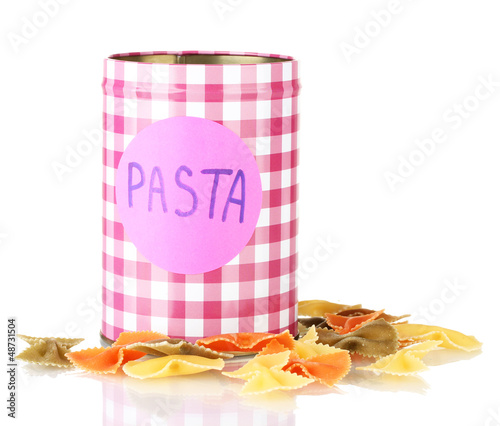 Pasta container isolated on white