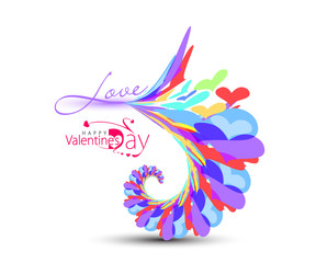 Abstract love design element, vector illustration.