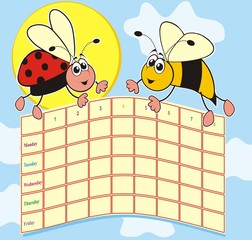 bee and ladybug-timetable