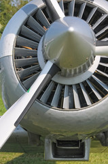 Propeller airplane intake detail