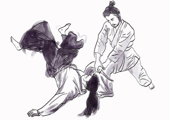 aikido - drawing converted into vector