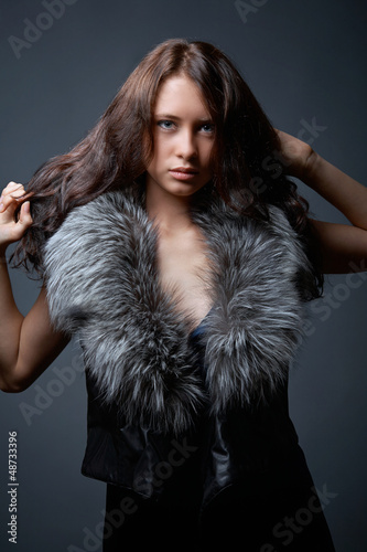 Portrait of attractive young model