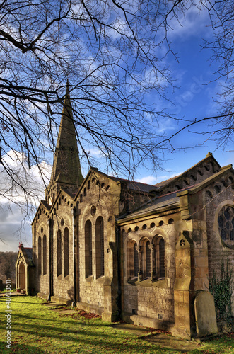 View of Christ Church in Chatburn, Lancashire.