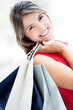 Gorgeous shopping girl