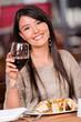 Beautiful woman at a restaurant