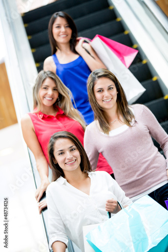 Women at the shopping center