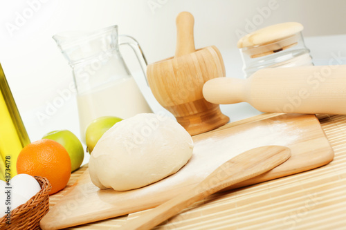 Different products to make bread