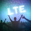 LTE  highspeed concept vor show Publikum