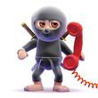 Ninja answers the red phone