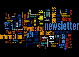 Making Money From Publishing Newsletters Concept