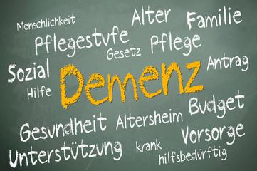 Kreidetafel mit Demenz