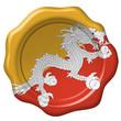 Wachssiegel Bhutan