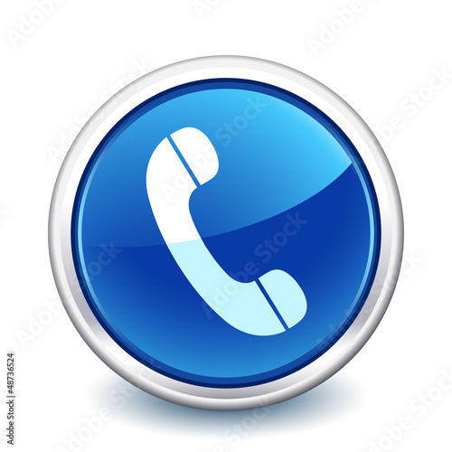 button blue phone