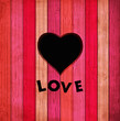 Vector colorful wooden background with heart