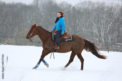 Westernreiten - Schnee
