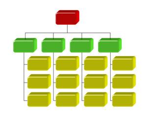 Organigramma aziendale 3D
