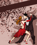 Fototapety A couple dancing tango