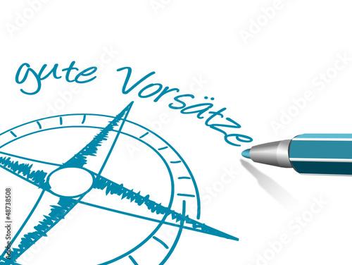 Kompass gute Vorsätze Stift
