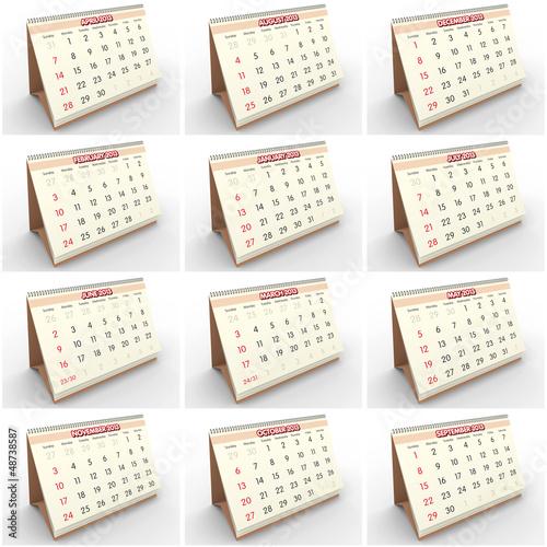 2013 English calendar